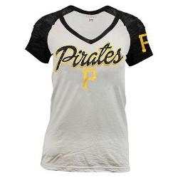 Pittsburgh Pirates Women's Burnout Raglan T-Shirt