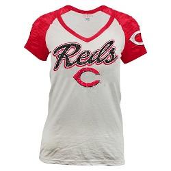 Cincinnati Reds Women's Burnout Raglan T-Shirt