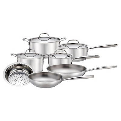 11 pcs Stainless Steel Cookware Set - Threshold™