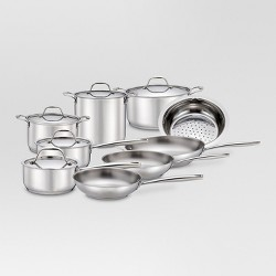 Cookware Set Stainless Steel 14pc B24 - Threshold™