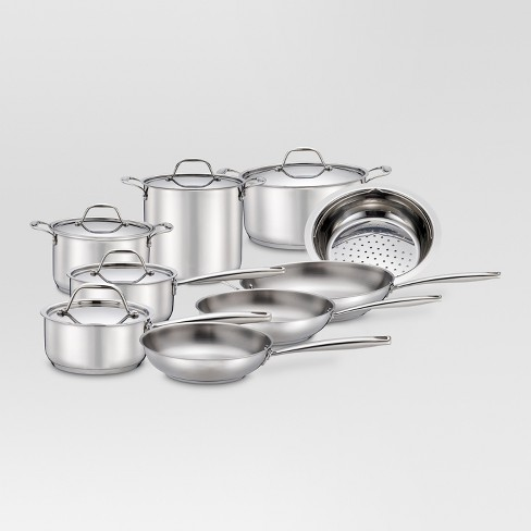 Cookware Set Stainless Steel 14pc B24 - Threshold™ - image 1 of 1