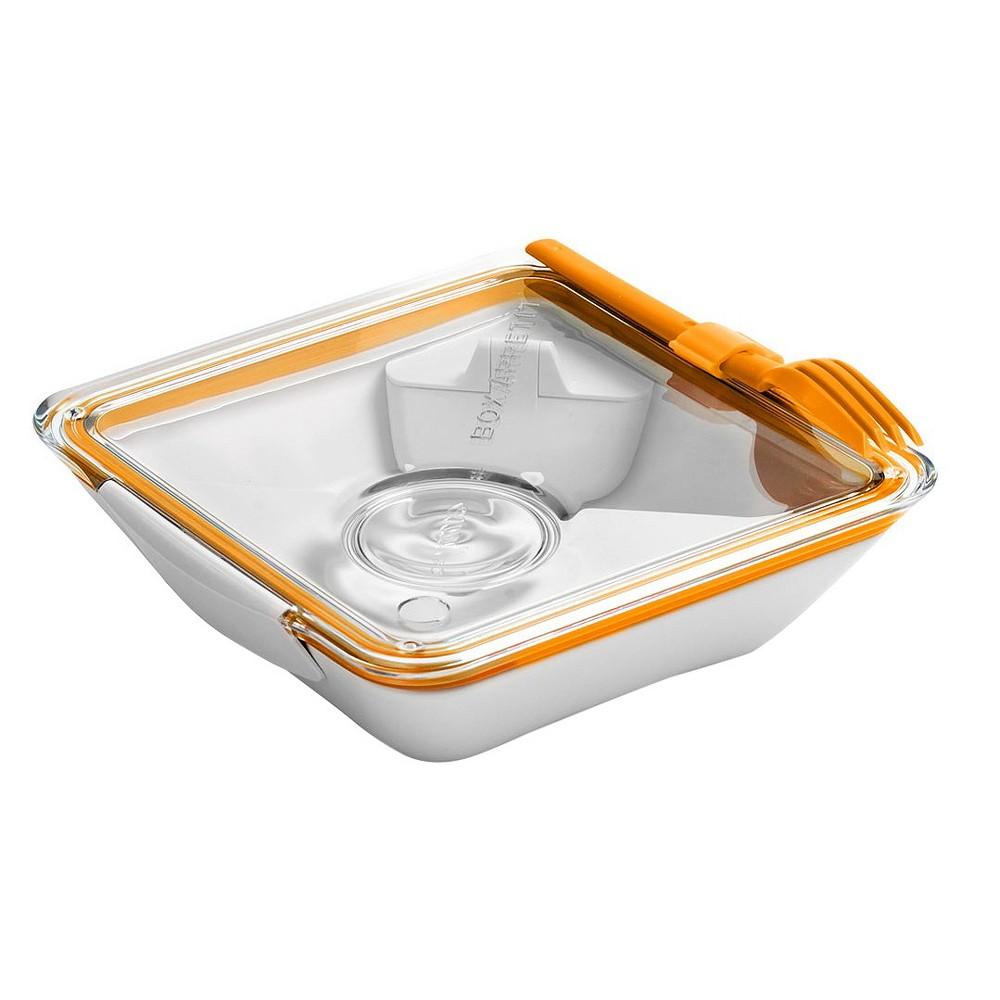 """Black + Blum - Box Appetit – Orange – 7.48L x 7.48""""""""W x 2.17""""""""H"""