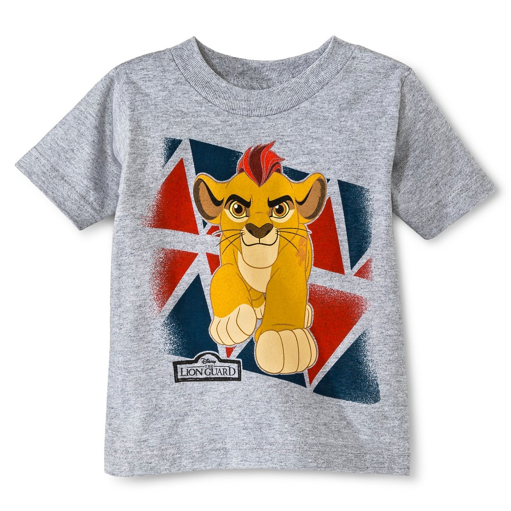 Disney Toddler Boys The Lion Guard T-Shirt - Gray Heather 2T
