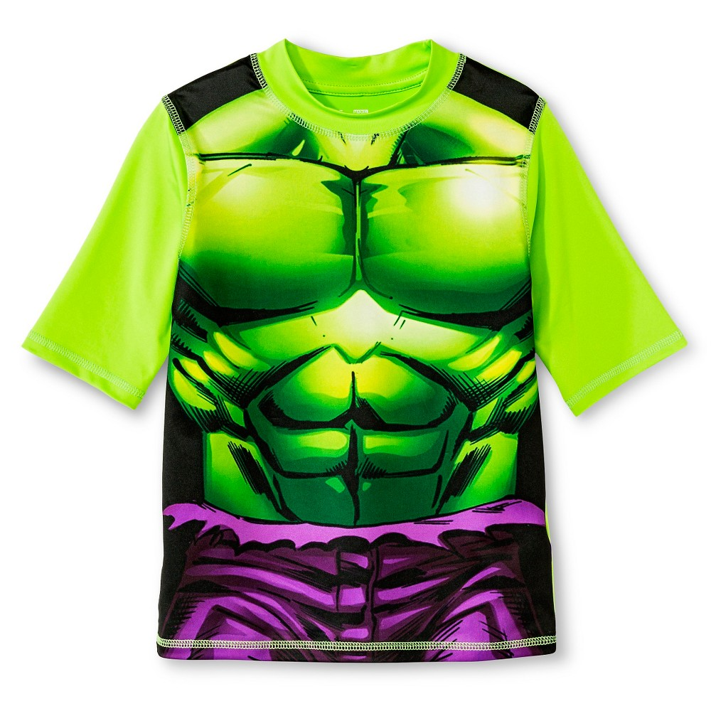 Boys Hulk Rashguard - Lime L, Green