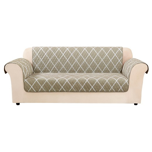 Furniture Flair Lattice Sofa Cover Tan