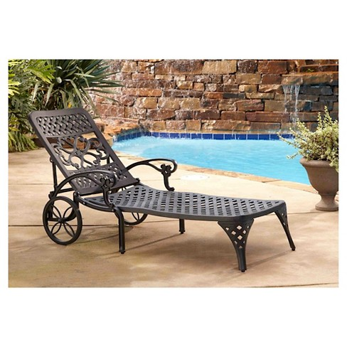 Biscayne Black Chaise Lounge Chair - image 1 of 2