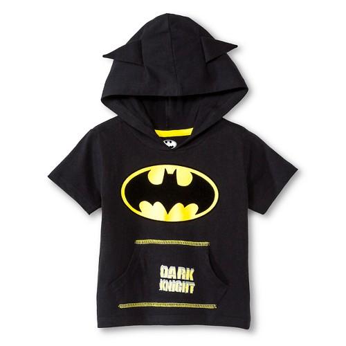 Batman Baby Boys' Hooded Costume Tee - Black 18 M, Infant Boy's