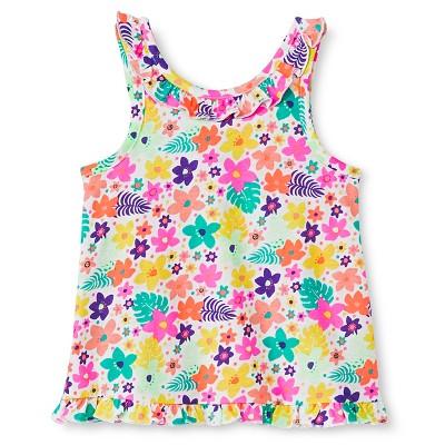 Baby Girls' Flower Print Peplum Tank Top Multicolored 18M - Circo™