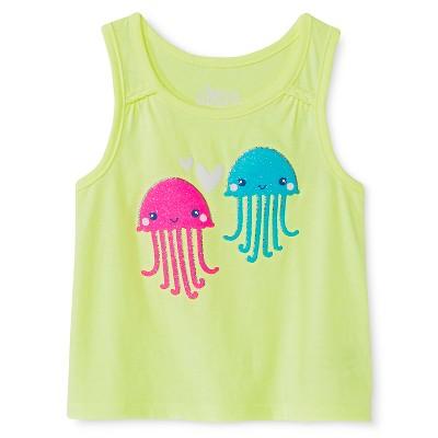 Baby Girls' Jellyfish Graphic Tank Top Green 18M - Circo™