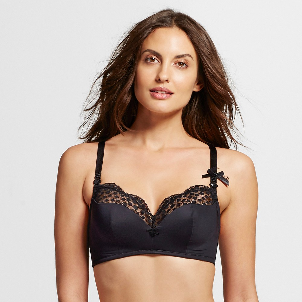 Cache Coeur Lollypop Wire-free Foam Nursing Bra - Black 38D, Womens