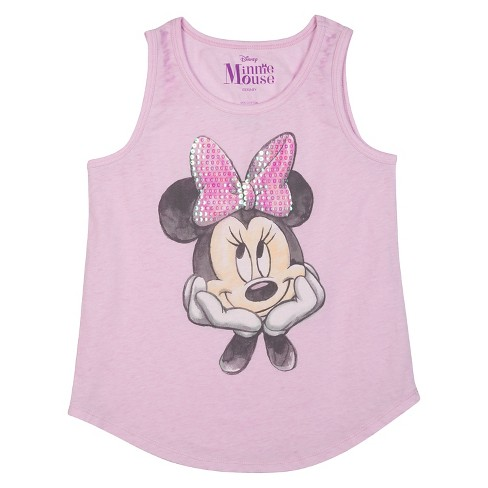 Girls' Minnie Mouse Tank Top - Purple - image 1 of 1