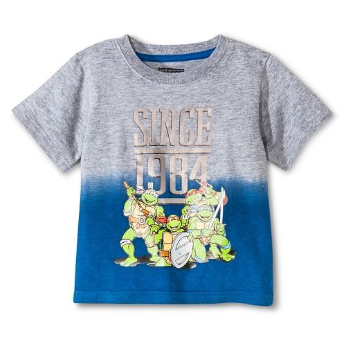 Teenage Mutant Ninja Turtles Baby Boys' T-Shirt 18M - Heather Grey, Infant Boy's, Size: 18 M, Gray
