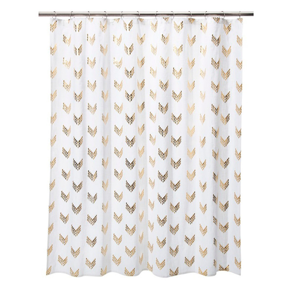 UPC 490641818919 Product Image For Shower Curtain Gold Metallic Arrows