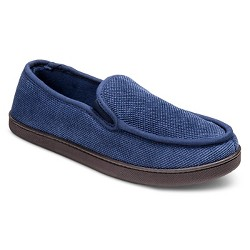 Impressions by Isotoner Men's Navy Moccasin Slipper