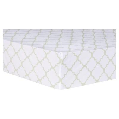 Trend Lab Sea Foam Fitted Crib Sheet - Quatrefoil