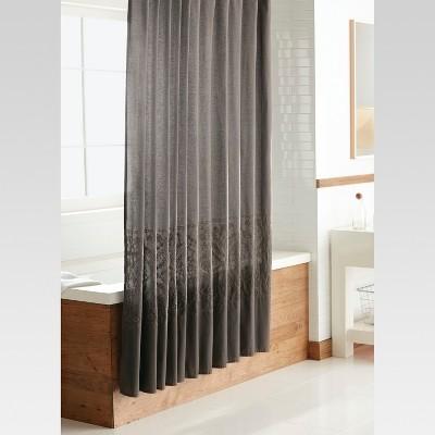 beige and gray shower curtain. Dark Gray Embroidery Shower Curtain  Threshold 23 74 Reg 24 99 Curtains Liners Target