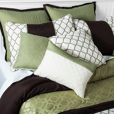 darcey comforter set 10 piece green