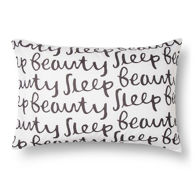 Pillowcase Microfiber Reversible Beauty Sleep Standard White - Room Essentials™