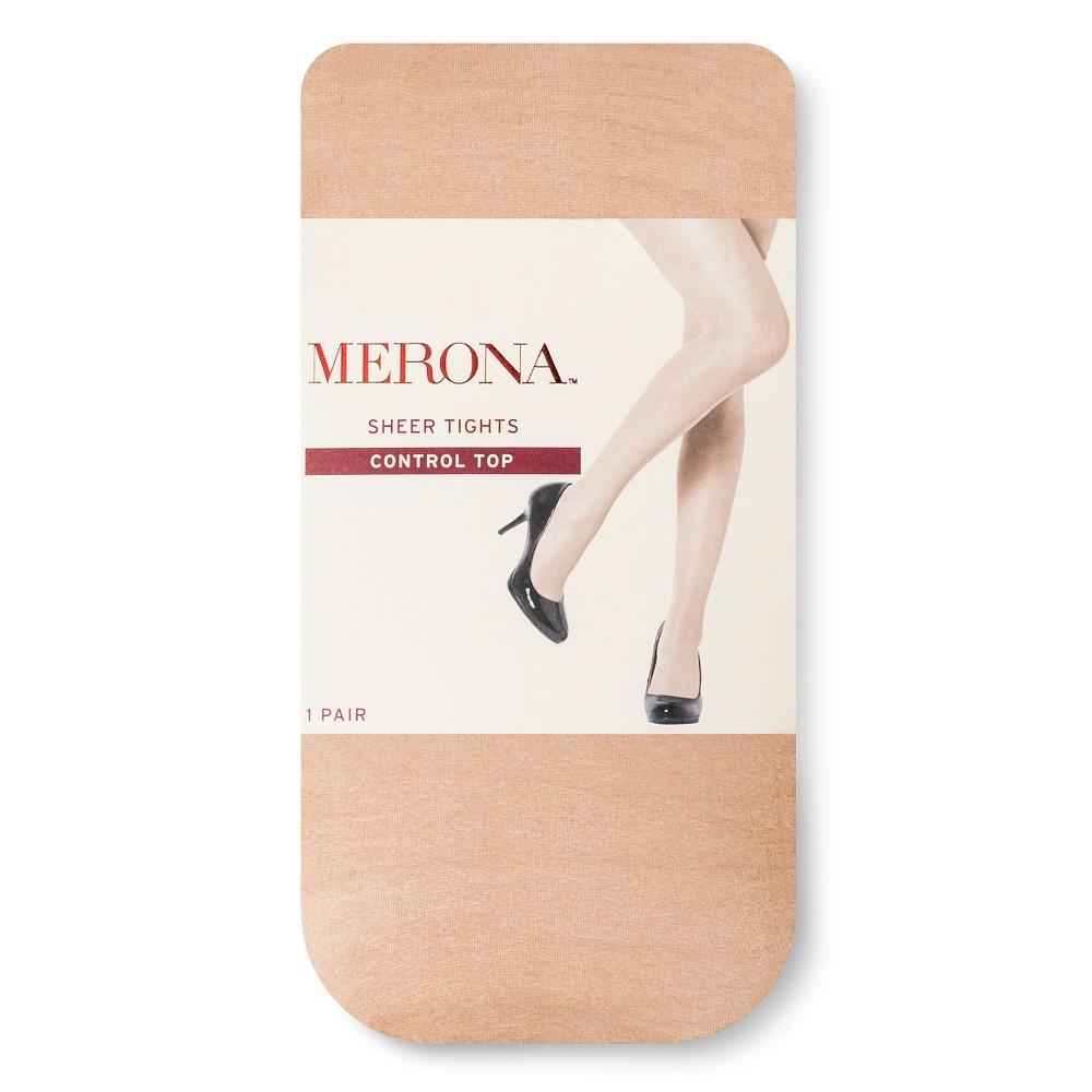 Womens Plus-Size Premium Control Top Tights - Merona Black 2X, Beige
