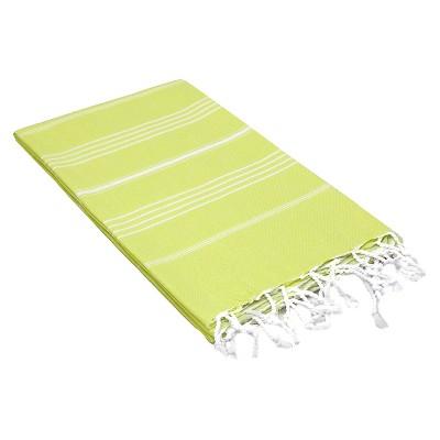Lucky Pestemal Beach Towel Lime Green