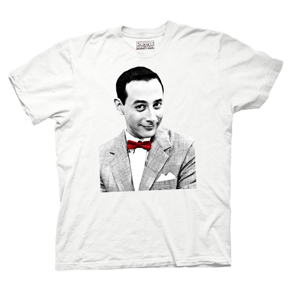 Men's Pee-Wee Herman T-Shirt - White M, Black White