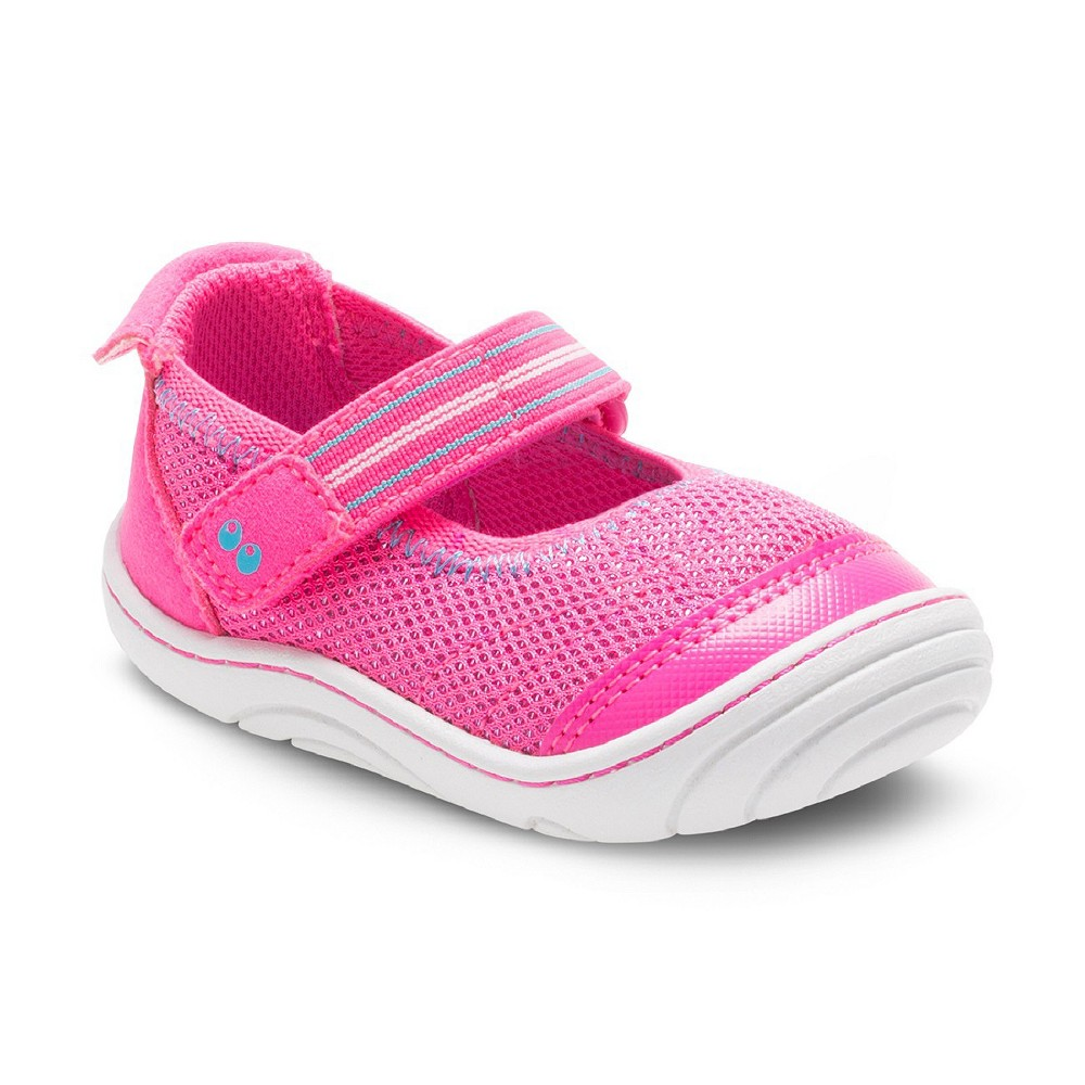Baby Girls Surprize by Stride Rite Petula Mary Jane Shoes - Pink 4