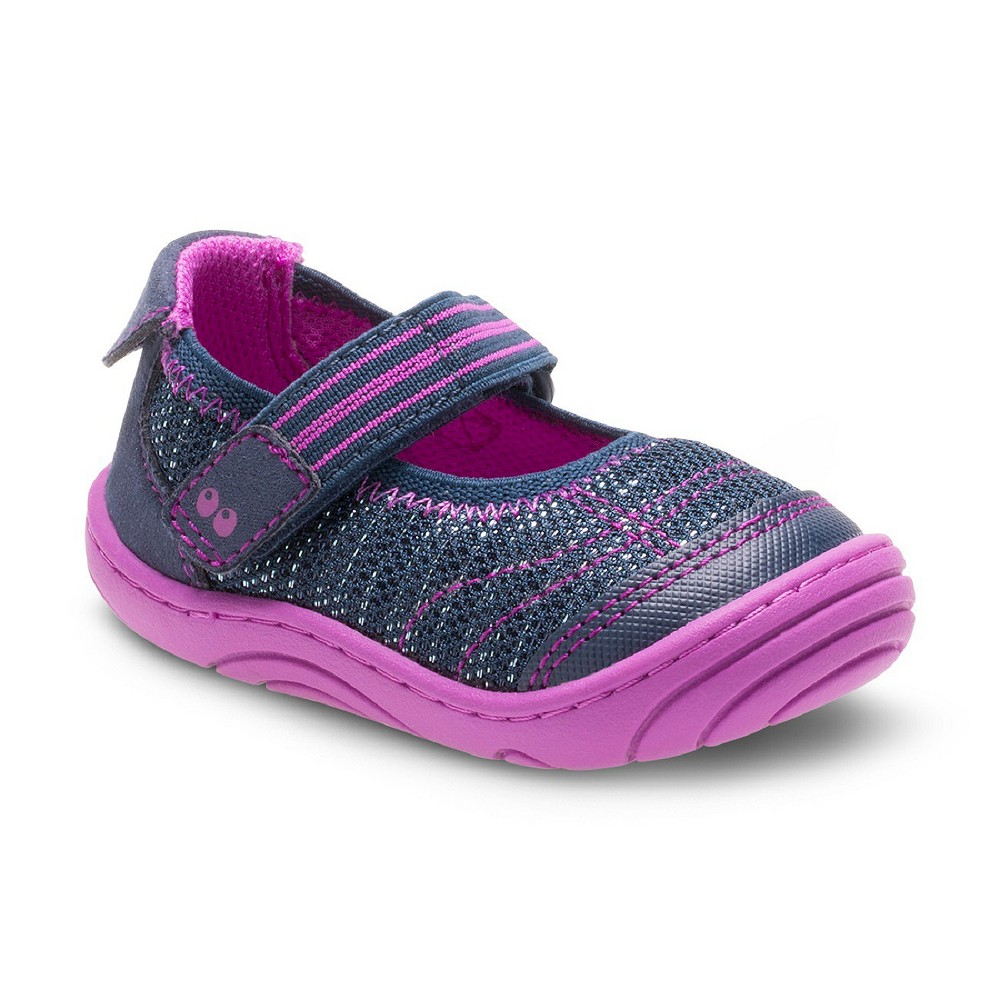 Baby Girls Surprize by Stride Rite Petula Mary Jane Shoes - Navy (Blue) 3