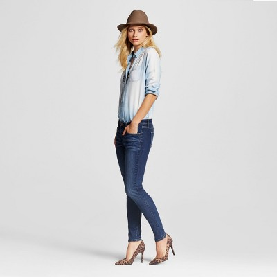 view Women's Mid-rise Skinny Jeans Dark Wash - Mossimo on target.com. Opens in a new tab.