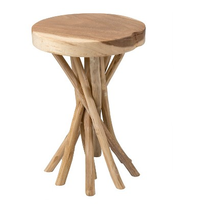 Beautiful Liberte Round Side Table With Stick Base   Jeffan
