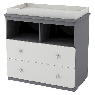 Cosco Willow Lake Changing Table - Light Slate Gray/White