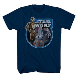 Boys' Star Wars Tri Bot Ring T-Shirt - Navy