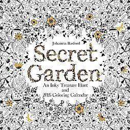 Secret Garden An Inky Treasure Hunt And 2016 Coloring Calendar Paperback Target
