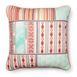 Mint & Pink Embroidered Throw Pillow - Xhilaration™