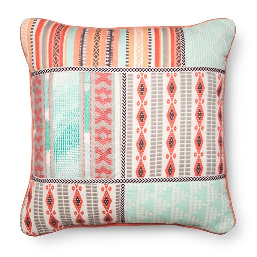 Mint & Pink Embroidered Throw Pillow - Xhilaration : Target