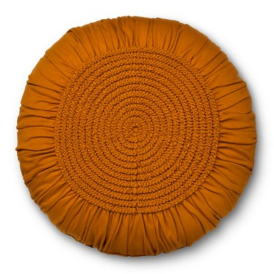 Gold & Tan Round Throw Pillow - Xhilaration™