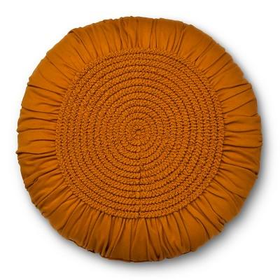 Gold U0026 Tan Round Throw Pillow   Xhilaration™ : Target