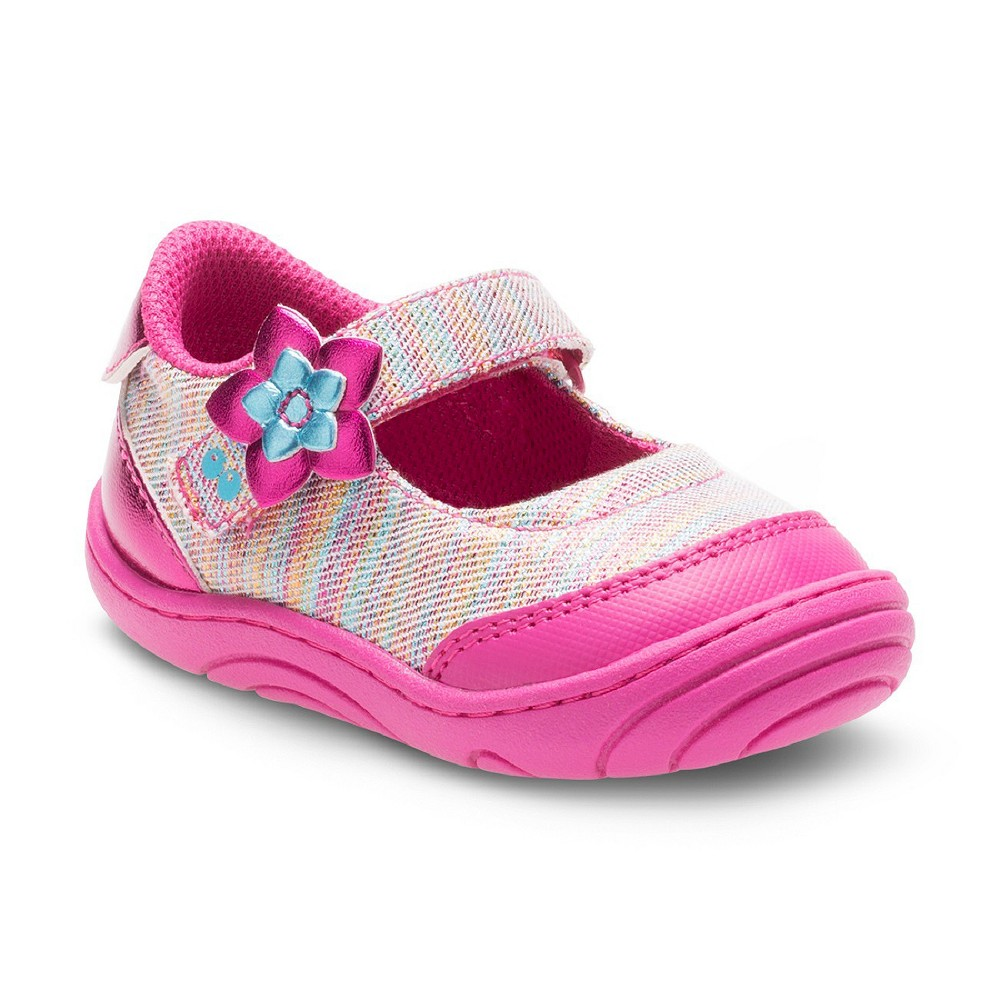 Baby Girls Surprize by Stride Rite Pauline Mary Jane Shoes - 3, Multicolored