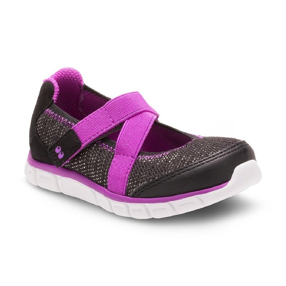 Toddler Girls Surprize by Stride Rite Syd Athletic Mary Jane Shoes - Black 9, Black Purple