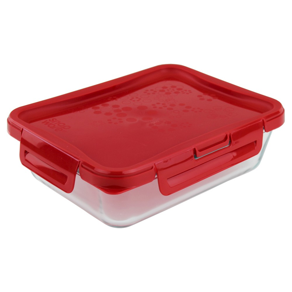 Pyrex 6 Cup 4-Lock Premium Storage, Red