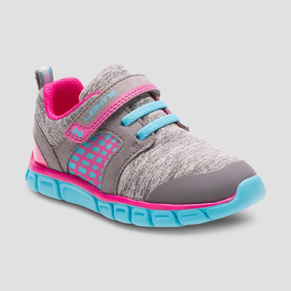 Toddler Girls Surprize by Stride Rite Clarissa Light Up Sneakers - Gray/Blue 5, Blue Gray