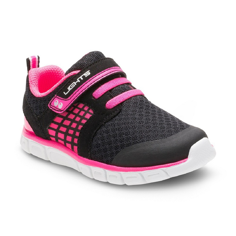 Toddler Girls Surprize by Stride Rite Clarissa Light Up Sneakers - Black/Pink 7, Black Pink