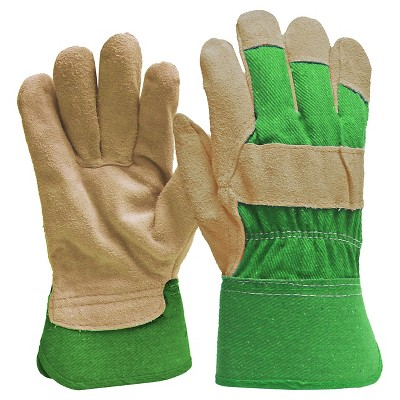 Digz Women's Suede Leather Palm Gloves with Safety Cuff - Large