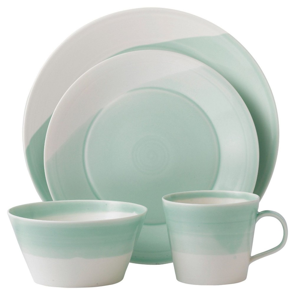 Royal Doulton 1815 4pc Dinnerware Set Green