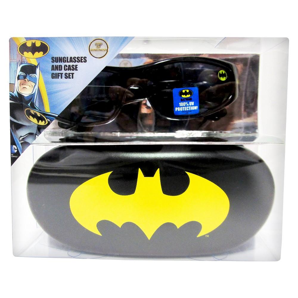 Batman Boys Oval Sunglasses Black One Size