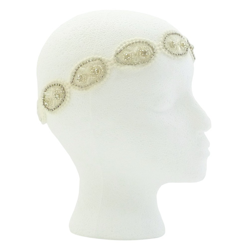 Pink Pewter Marian Bridal and Special Occasion Headband - White, Womens