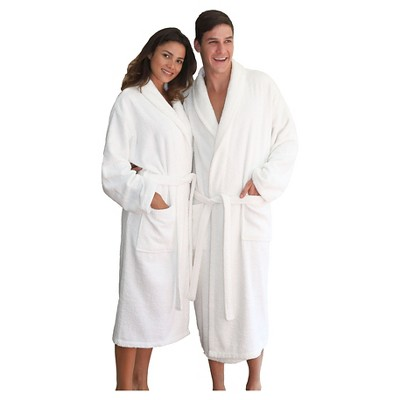 unisex terry cloth bathrobe linum home white xxlarge - Terry Cloth Robe
