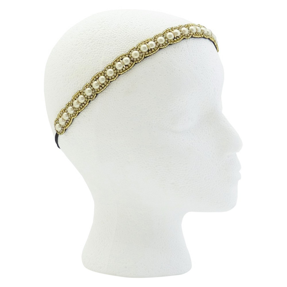 Pink Pewter Clarissa Bridal and Special Occasion Headband - Pearl (White), Womens