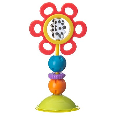 Playgro Twist & Chew High Chair Toy-Red Flower