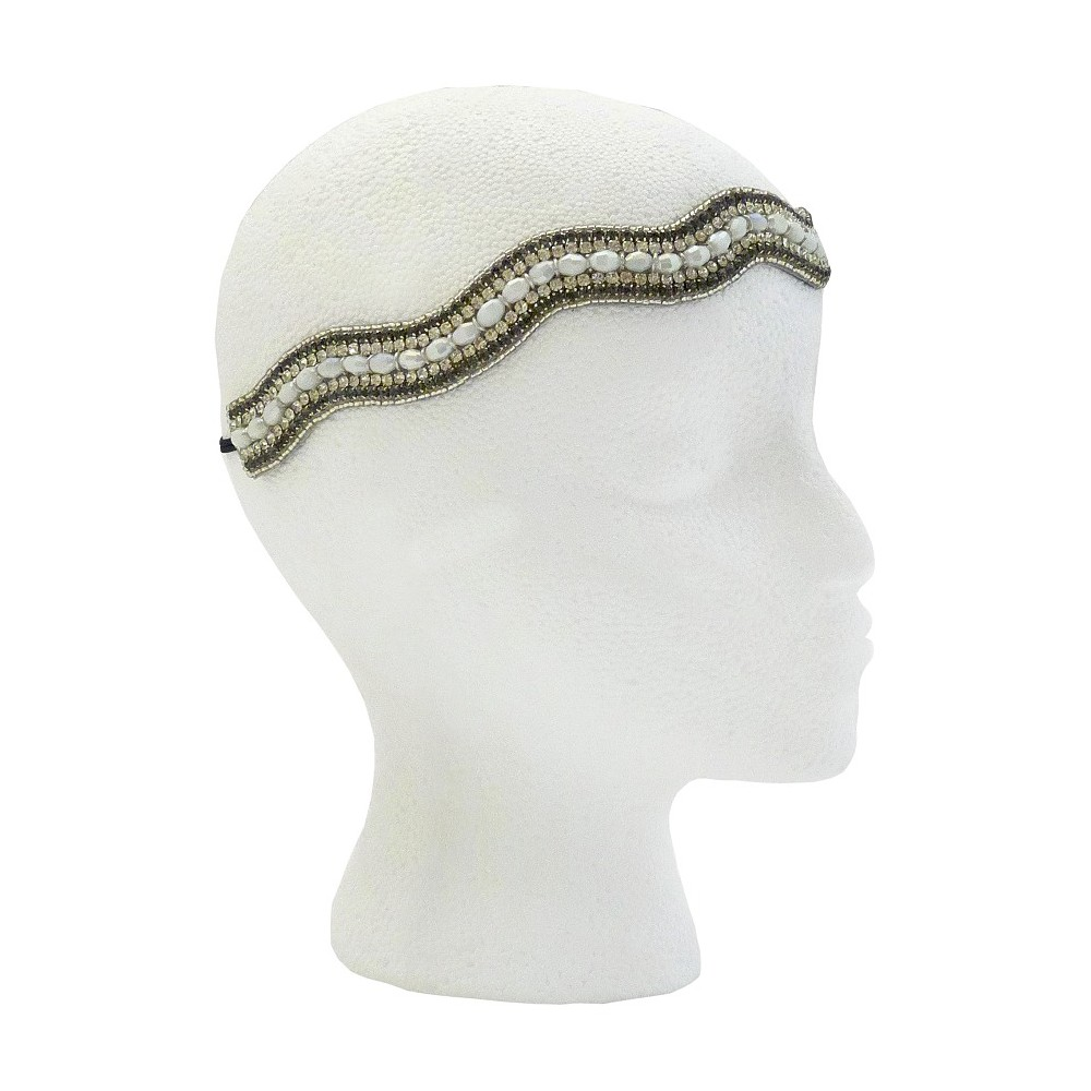 Pink Pewter Yasmine Bridal and Special Occasion Headband - White, Womens