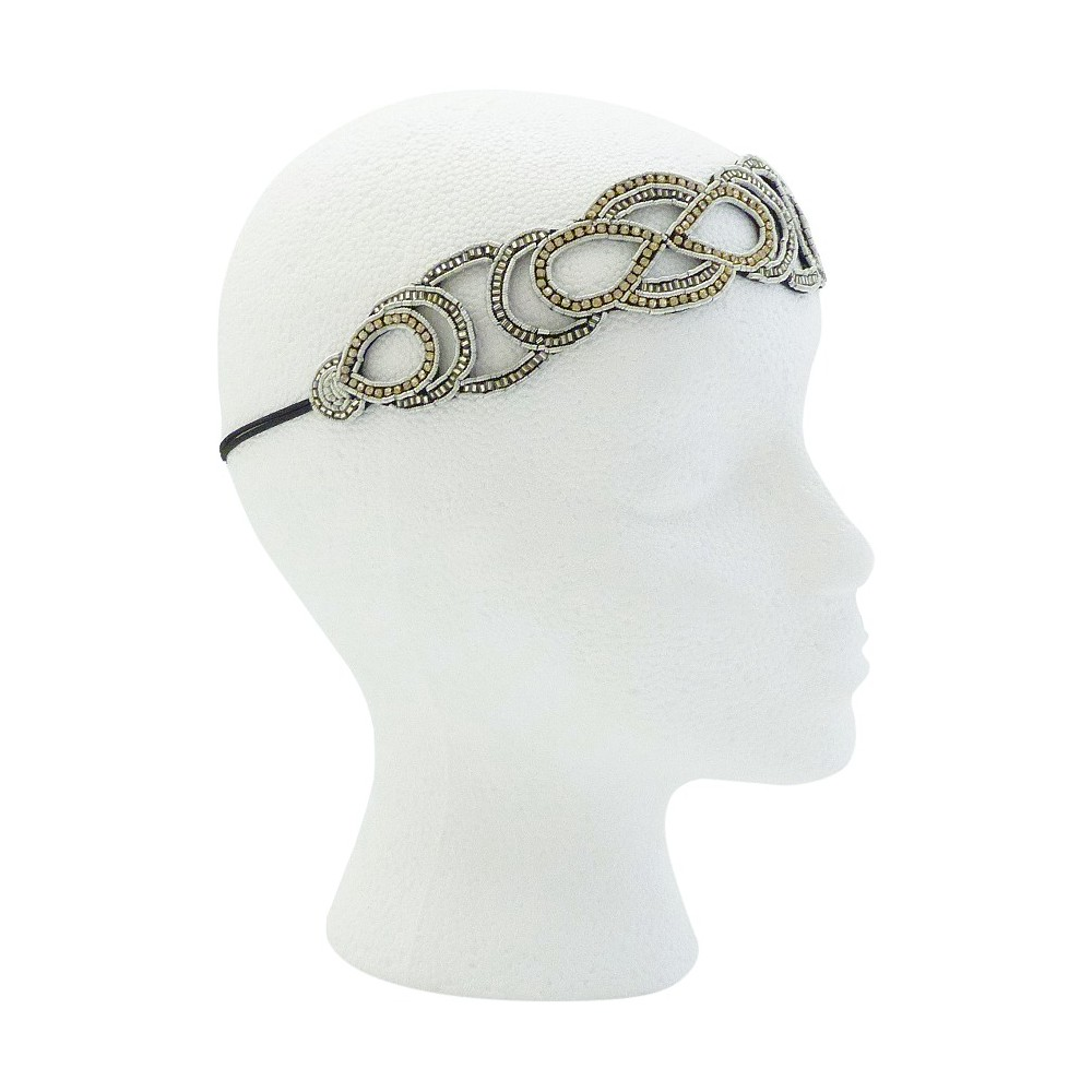 Pink Pewter Raquel Bridal and Special Occasion Headband - Silver, Womens